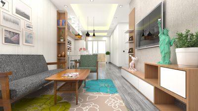 Thiết kế nội thất căn hộ hh2 linh đàm