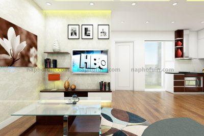 thiết kế nội thất căn hộ 45.48m2 – hh1 và hh2 linh đàm