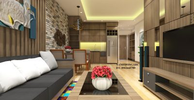 thiết kế nội thất căn hộ 65,9m2 tòa c kim van kim lu