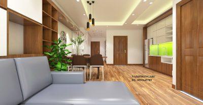 Thiết kế nội thất căn hộ 76 m2 tòa c kim văn kim lũ