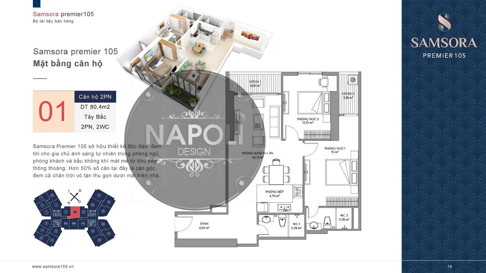 Thiết kế nội thất căn hộ 70.9m2 Lucky House Kiến Hưng Hà Đông