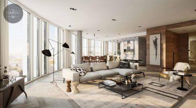 Thiết kế nội thất căn hộ 55.9m2 Lucky House Kiến Hưng Hà Đông