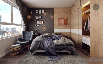 Thiết kế nội thất căn hộ 40m2 Lucky House Kiến Hưng Hà Đông
