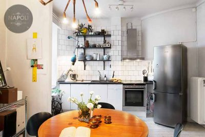 Thiết kế nội thất căn hộ A2 56.83m2 Hateco Apollo Nam Từ Liêm