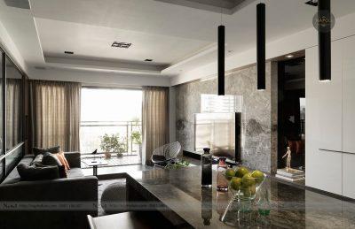 Thiết kế nội thất căn hộ A3 62.08m2 Hateco Apollo Nam Từ Liêm
