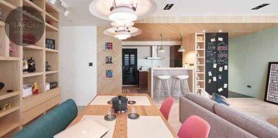 Thiết kế nội thất căn hộ B1 51.6m2 Hateco Apollo Nam Từ Liêm