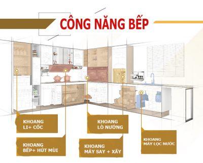thiết kế thi công tủ bếp tại chung cư thanh hà