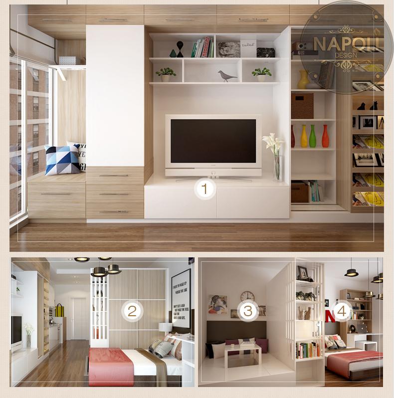 ý tưởng thiết kế căn 2 ngủ