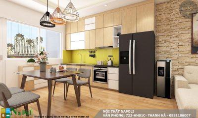 thiết kế nội thất căn hộ 68 m2- chung cư thanh hà