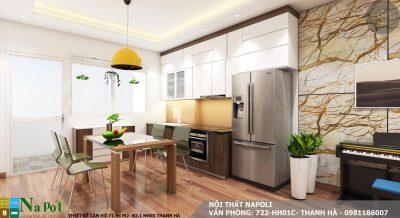 thiết kế nội thất căn hộ 72 m2- chung cư thanh hà