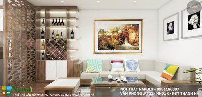 thiết kế nội thất căn hộ 80 m2- chung cư thanh hà