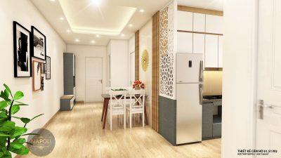 Nội thất căn 12-61.51 m2 chung cư b2.1 hh02 thanh hà