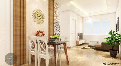 Nội thất căn 14-61.51 m2 chung cư b2.1 hh02 thanh hà