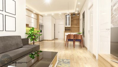Nội thất căn 18-80.72 m2 chung cư b2.1 hh02 thanh hà