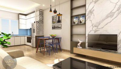 Nội thất căn 24-68.49 m2 chung cư b2.1 hh02 thanh hà