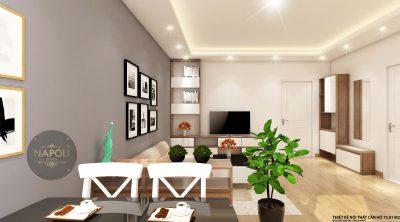 Nội thất căn 28-73.81 m2 chung cư b2.1 hh02 thanh hà