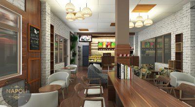 Thiết kế thi công nội thất quán coffee Đồng Văn Hà Nam