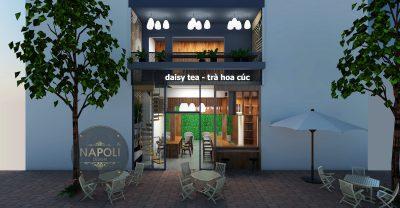 Thiết kế thi công quán trà sữa  tại Phủ Lý Hà Nam ̣phần 1