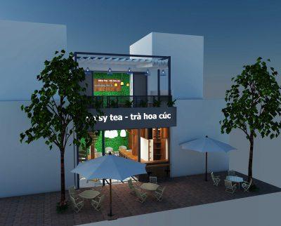 thi công quán coffee daisy-tea đẹp tại phủ lý hà nam